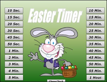 Easter PowerPoint Timer – Classroom Timer – Easter Timer