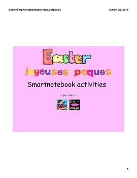 Easter / Pâques FRENCH SmartNotebook Activities