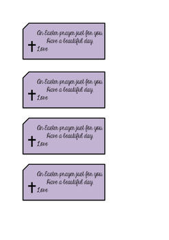Easter Prayer Tag