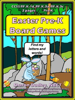 Easter Pre-K Board Games