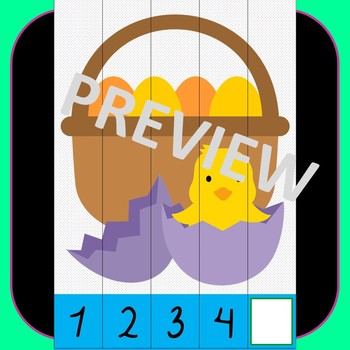 Easter Pre-K Counting Puzzles - Easter Number Puzzles 1-10 + Missing Numbers