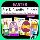 Easter Pre-K Counting Puzzles - Easter Number Puzzles 1-10