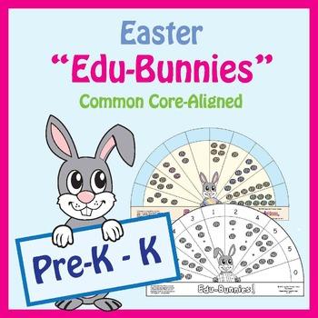 "Easter Pre-K / Kindergarten Math & Literacy Centers: ""Edu-"