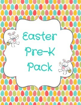 Easter Pre-K Pack No Prep!