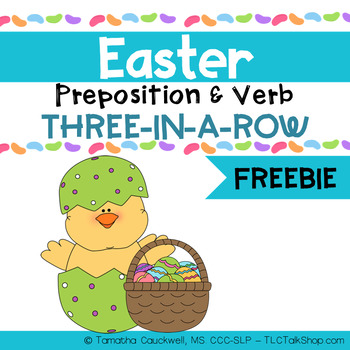 Easter Preposition and Basic Verb Three-in-a-Row