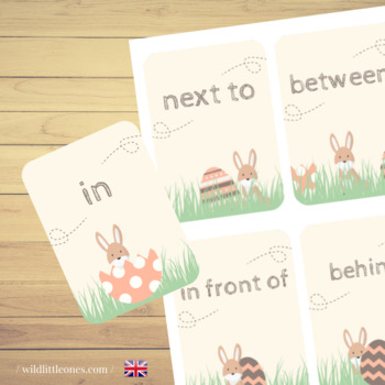 Easter Prepositions Memory Game⎜ Where is the Easter bunny ? ⎜Matching Game