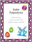 Easter Prepositions Pack - English version