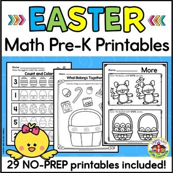 Easter Math Preschool Printables