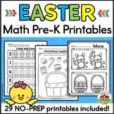 Easter Math Worksheets for Preschool