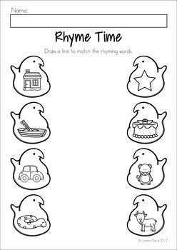Easter Preschool No Prep Worksheets & Activities