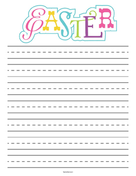 Easter Primary Lined Paper