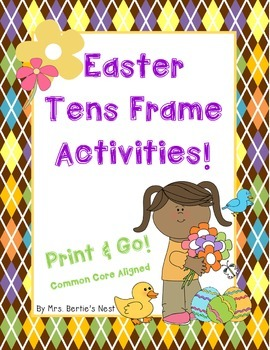 Easter Print and Go Tens Frame Activities