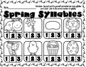 Easter Print and Learn ~ Math and Literacy Printable Packet