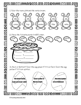 FREE Easter Math and Literacy Printables