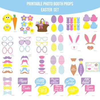 Easter Printable Photo Booth Prop Set