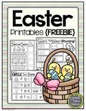 Easter Printables FREEBIE