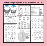 Easter Printables for Language and Math Gr. 1  (PDF)