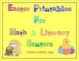 Easter Printables for Math & Literacy Centers