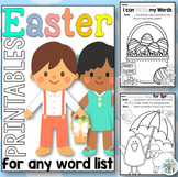 Easter Printables for any Word List
