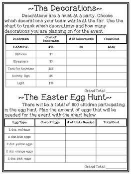 Easter Project Based Learning Activity