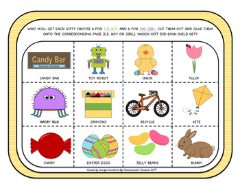 Easter Pronoun Activity Oral Language Cut + Paste SLP