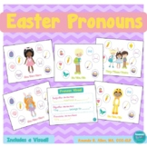 Easter Pronoun Activity and Visual: Subjective, Objective