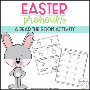 Pronouns - Read the Room Activity - Easter