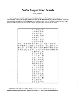 Easter Proper Noun Search Puzzle, Easter History, Easter S