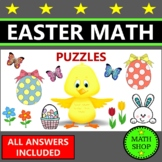 Easter Math Printable - Fun Puzzles Activity
