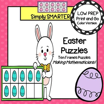 Easter Puzzles: LOW PREP Ten Frames Puzzles by Simply SMARTER by ...