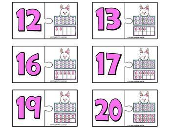 Easter Puzzles:  LOW PREP Ten Frames Puzzles