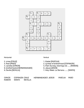 Easter Puzzles for Students of Spanish