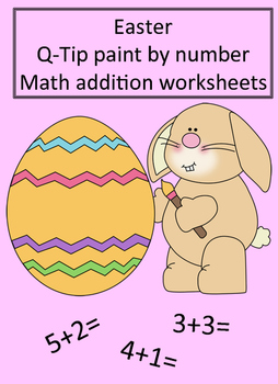 Easter Q-Tip Painting Math Worksheets