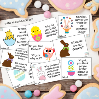 WH- Questions and Games for Easter