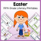 Easter No Prep Common Core Literacy (fifth grade)