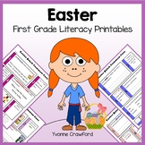 Easter No Prep Common Core Literacy (first grade)
