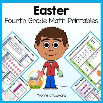 Easter No Prep Common Core Math (fourth grade)