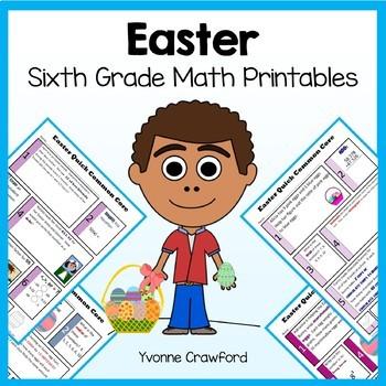 Easter No Prep Common Core Math (sixth grade)