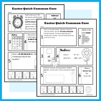 Easter No Prep Common Core Math (third grade)