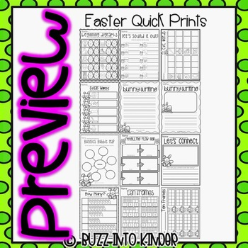 Easter Quick Prints : For Kindergarten