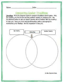 Easter Writing Activities - Graphic Organizers, Poetry, Paragraph Writing