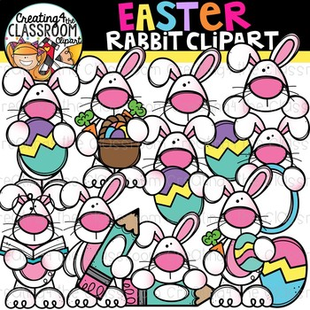 Easter Rabbit Clipart {Easter Clipart}