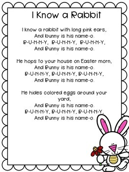 Easter Rabbit with Song: Easter Craft