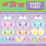 Easter Rabbit Parts Clip Art (Digital Use Ok!)