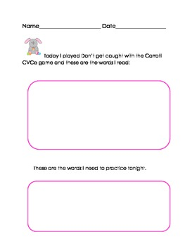 Easter Rabbits CVCe Literacy Game