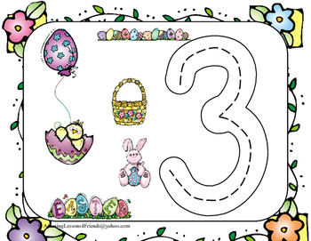 Easter Race to Trace Number Mats 1 to 20 (Common Core)