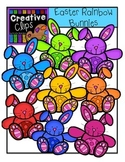 Easter Rainbow Bunnies {Creative Clips Digital Clipart}