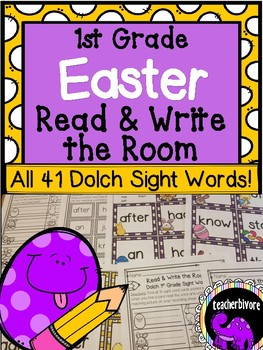 Easter Read and Write the Room - First Grade Dolch Sight Words