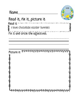 Easter Read it, Fix it,Picture it: Daily Morning Work {Easter Freebie}