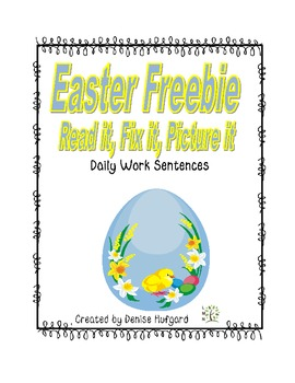 Easter Read it, Fix it,Picture it: Daily Morning Work {Eas